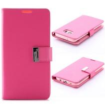 Goospery Roze Bookcase Hoesje Samsung Galaxy S7 Edge
