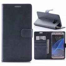 Moon Series Blauw Bookcase Hoesje Samsung Galaxy S7 Edge