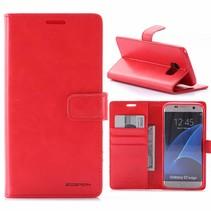 Moon Series Rood Bookcase Hoesje Samsung Galaxy S7 Edge