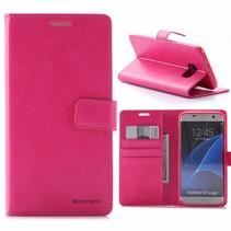 Moon Series Roze Bookcase Hoesje Samsung Galaxy S7 Edge