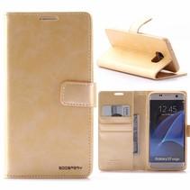 Moon Series Goud Bookcase Hoesje Samsung Galaxy S7 Edge