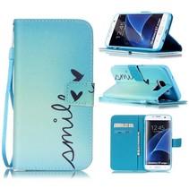 Smile Bookcase Hoesje Samsung Galaxy S7 Edge