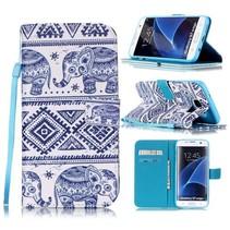 Olifantjes Bookcase Hoesje Samsung Galaxy S7 Edge