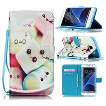 Marshmallows Bookcase Hoesje Samsung Galaxy S7 Edge