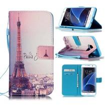 Eiffeltoren Bookcase Hoesje Samsung Galaxy S7 Edge