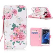Bloemetjes Bookcase Hoesje Samsung Galaxy S7 Edge