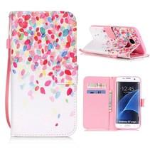 Kleurrijke Bloesem Bookcase Hoesje Samsung Galaxy S7 Edge