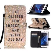 Eat Glitter Bookcase Hoesje Samsung Galaxy S7 Edge