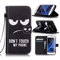 Don't Touch My Phone Bookcase Hoesje Samsung Galaxy S7 Edge