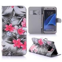 Bloemen Bookcase Hoesje Samsung Galaxy S7 Edge
