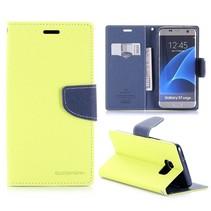 Fancy Diary Limegroen Bookcase Hoesje Samsung Galaxy S7 Edge