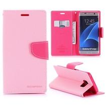 Fancy Diary Roze Bookcase Hoesje Samsung Galaxy S7 Edge
