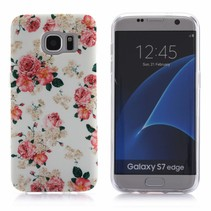 Bloemetjes TPU Hoesje Samsung Galaxy S7 Edge