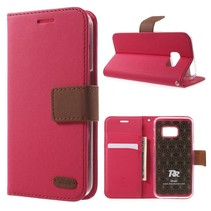 Diary Roze Bookcase Hoesje Samsung Galaxy S7