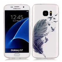 Veertje en Vogels TPU Hoesje Samsung Galaxy S7