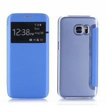 Blauw Venster Bookcase Hoesje Samsung Galaxy S7 Edge
