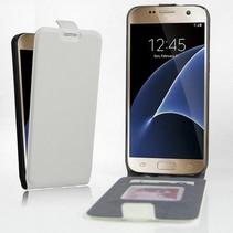 Wit Flip Case Hoesje Samsung Galaxy S7