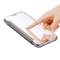 Zilver Mirror Bookcase Hoesje Samsung Galaxy S7