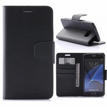 Sonata Zwart Bookcase Hoesje Samsung Galaxy S7