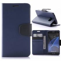 Sonata Blauw Bookcase Hoesje Samsung Galaxy S7