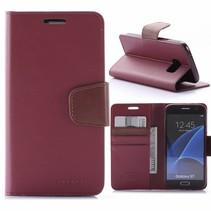 Sonata Donkerrood Bookcase Hoesje Samsung Galaxy S7