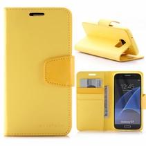 Sonata Geel Bookcase Hoesje Samsung Galaxy S7