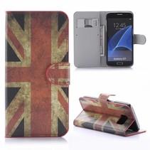 Britse Vlag Bookcase Hoesje Samsung Galaxy S7