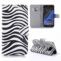 Zebra Bookcase Hoesje Samsung Galaxy S7