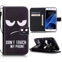 Don't Touch My Phone Bookcase Hoesje Samsung Galaxy S7
