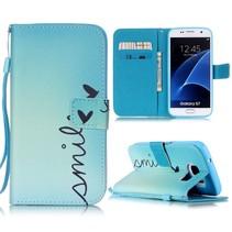 Smile Bookcase Hoesje Samsung Galaxy S7