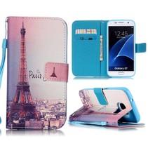 Eiffeltoren Bookcase Hoesje Samsung Galaxy S7