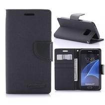Goospery Zwart Bookcase Hoesje Samsung Galaxy S7