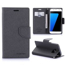 Diary Zwart Bookcase Hoesje Samsung Galaxy S7