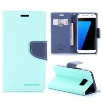 Diary Cyaan Bookcase Hoesje Samsung Galaxy S7