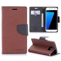 Diary Bruin Bookcase Hoesje Samsung Galaxy S7