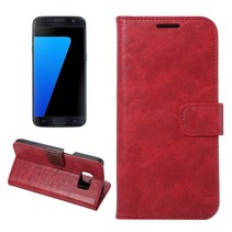 Rood Glad Bookcase Hoesje Samsung Galaxy S7