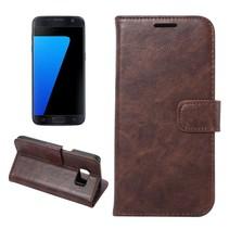 Bruin Glad Bookcase Hoesje Samsung Galaxy S7