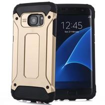 Goud Goud Hybrid Hoesje Samsung Galaxy S7