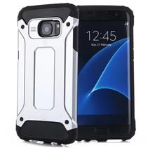 Zilver Zilver Hybrid Hoesje Samsung Galaxy S7