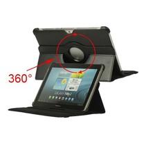 Zwarte 360 graden hoes Samsung Galaxy Tab 2 10.1