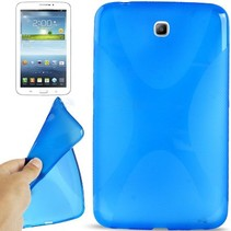 X-design blauwe TPU hoes Samsung Galaxy Tab 3 7.0