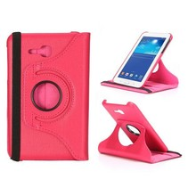 Roze lederen hoes Samsung Galaxy Tab 3 Lite 7.0