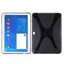 Zwarte x-design TPU hoes Samsung Galaxy Tab 4 10.1