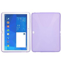 Paarse x-design TPU hoes Samsung Galaxy Tab 4 10.1