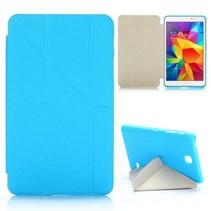 Blauwe origami-fold hoes Samsung Galaxy Tab 4 7.0