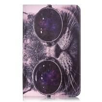 Kat met Zonnebril Hoes Samsung Galaxy Tab A 10.1 2016