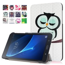 Slapende Uil Trifold Hoes Samsung Galaxy Tab A 7.0