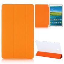 Oranje tri-fold hoes Samsung Galaxy Tab S 8.4