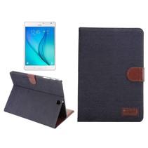 Zwarte denim flipstand hoes Samsung Galaxy Tab S2 8.0