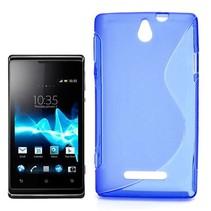 Blauw S-design TPU hoesje Sony Xperia E